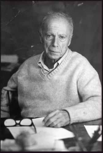 Claude Simon, en 1965. Photo Roland Allard Avec l'aimable autorisation des Éditions de Minuit ©