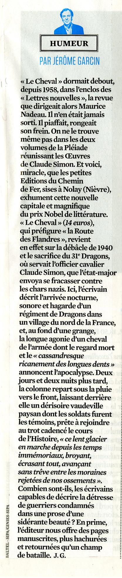 J�r�me Garcin, L'obs 2662, Du 12 Au 18 Novembre 2015