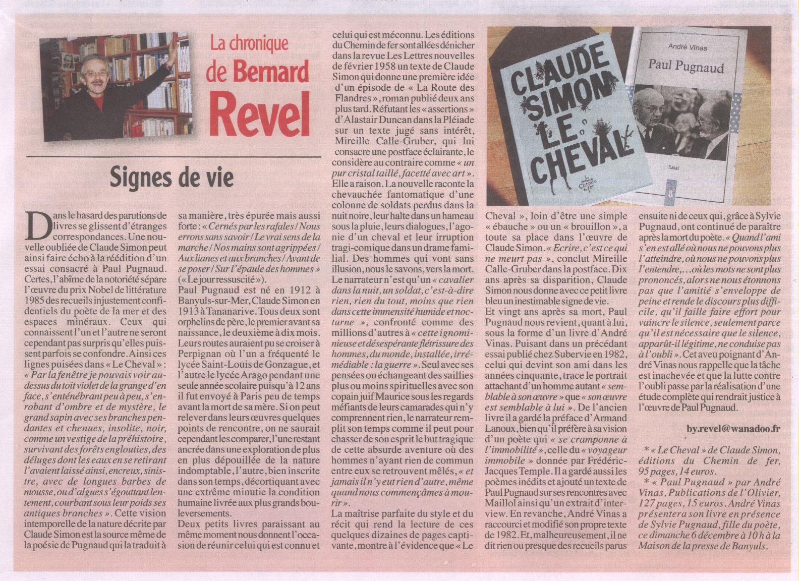 La Chronique De Bernard Revel