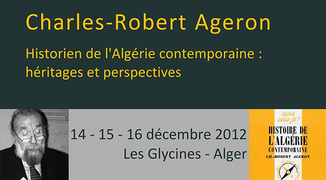 Journées d'étude Charles-Robert Ageron