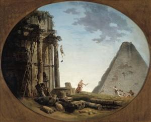 Hubert Robert, L'Accident, 1793, huile sur toile, 60 x 74 cm, Paris, musée Cognacq-Jay. © Musée Cognacq-Jay / Roger-Viollet