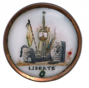Bouton Révolutionnaire, fin XVIIIe, © Les Arts Décoratifs, Paris.