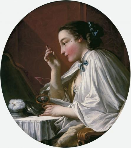 François Boucher, La Mouche ou Une dame à sa toilette, 1738, huile sur toile, 86,3 × 76,2 cm, collection particulière.