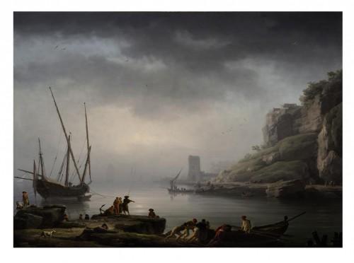 Joseph Vernet (1714-1789), Le lever du jour, départ des pêcheurs, 1747, peinture à l'huile sur toile, 98 x 134 cm, © D. Perronnet/Art digital studio & P. de Gobert
