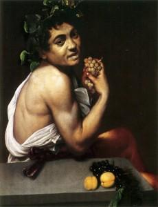 Michelangelo Merisi dit Caravage, Bacchus malade, 1593, huile sur toile, 67 x 53 cm, Rome, Museo e Galleria Borghese.