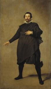 Diego Rodríguez de Silva y Velázquez (1599-1660), Portrait de Pablo de Valladolid, Vers 1635, Huile sur toile, 209 x 125 cm, Madrid, Museo Nacional del Prado.