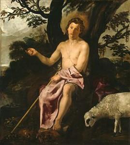 Attribué à Diego Rodríguez de Silva y Velázquez (1599-1660) Saint Jean Baptiste au désert Vers 1623 Huile sur toile, 171 × 152 cm Chicago, The Art Institute of Chicago.