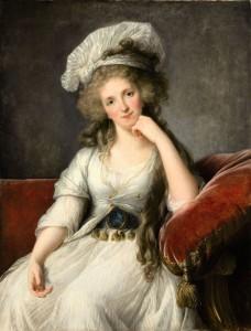 Élisabeth Louise Vigée Le Brun, Portrait de la duchesse d'Orléans, née Marie-Adélaïde de Bourbon-Penthièvre, 1789, huile sur panneau, 110 x 84 cm