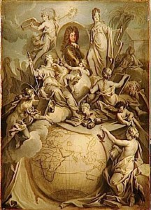Antoine Dieu (?), Allégorie du duc d'Orléans, régent du Royaume, 1718, huile sur toile, 106 x 77cm, Versailles, musée national des châteaux de Versailles et de Trianon.