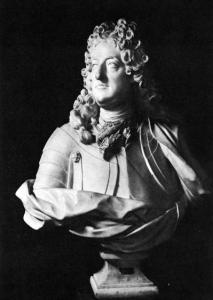 Jean-Louis Lemoyne, Buste de Philippe, duc d'Orléans, régent de France, 1715, marbre, 87 x 75 x 40 cm, Versailles, musée national des châteaux de Versailles et de Trianon.