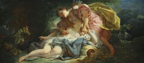 Jean-Honoré Fragonard, Céphale et Procris, 1755, huile sur toile, 79 x 173 cm, Angers, musée des Beaux-Arts.