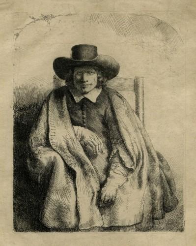 Rembrandt van Rijn, Clement de Jonghen, eau-forte, 1651, © MAH