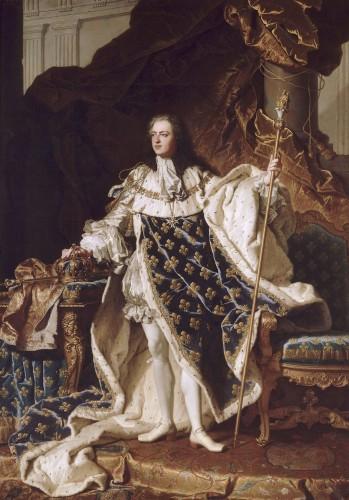 Hyacinthe Rigaud, Louis XV, roi de France, 1730, huile sur toile, 271 x 194 cm, Versailles, Musée national des châteaux de Versailles et de Trianon.