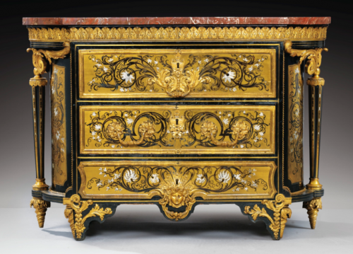 André-Charles Boulle, commode ovale, 1705 - 1715, 89 x 126 x 54 cm