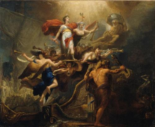 Antoine-François Callet, Tableau allégorique du 18 brumaire an VIII ou la France sauvée, 1800, huile sur toile, 101 x 125 cm, Vizille, musée de la Révolution française.