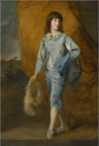 Thomas Gainsborough, Le page en bleu, 1770 – 1772, huile sur toile, 165,5 x 113 cm.