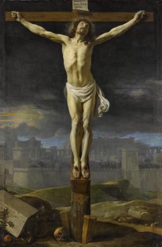 Philippe de Champaigne, Le Christ en croix, XVIIe siècle, huile sur toile, 228 x 153 cm, Paris, musée du Louvre.