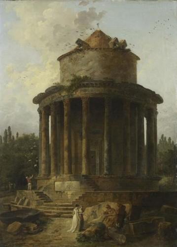 Hubert Robert, Un temple circulaire jadis dédié à Janus, 1789, huile sur toile, 98 x 107 cm, Paris, musée du Louvre.