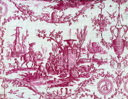 Manufacture d'Oberkampf d'après Jean-Baptiste Huet, La Liberté américaine, ca. 1786, musée des arts décoratifs, Paris.