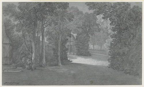 Jean-Baptiste Oudry, Les Jardins d'Arcueil, 1744, dessin, 31,3 x 52,1 cm, New York, Metropolitan Museum.