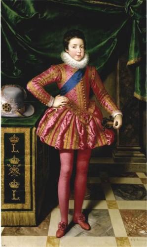 Frans Pourbus le Jeune, Louis XIII en costume de deuil, 1611, huile sur toile, Florence, Palazzo Pitti.