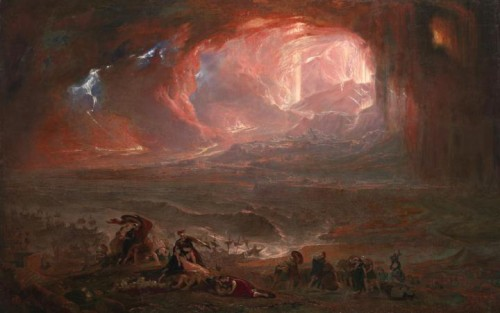 John Martin, The Destruction of Pompei and Herculaneum, 1822, huile sur toile, Londres, Tate Britain.