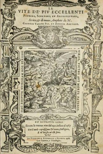 Frontispice de VASARI Giorgio, Le Vite de piu eccellenti pittori, 1568.