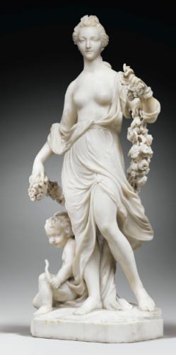 François Ladatte, Vénus et Cupidon, 1759, marbre, 89 x 35 cm.