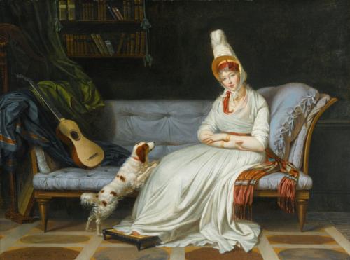 Louis Gauffier, Portrait de Lady Holland, 1795, huile sur toile, 51 x 67,6 cm.