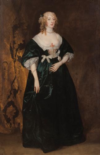 Sir Anthony van Dyck (Anvers 1599 - 1641 Londres), Portrait d'Anne-Sophie, comtesse de Carnarvon, 1643, 198 x 129,5 cm