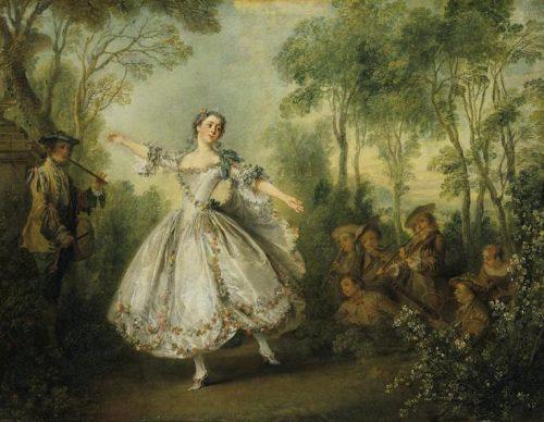 Nicolas Lancret, Mademoiselle Camargo dansant, 1730, toile, 41 x 54 cm, Londres, Wallace collection.