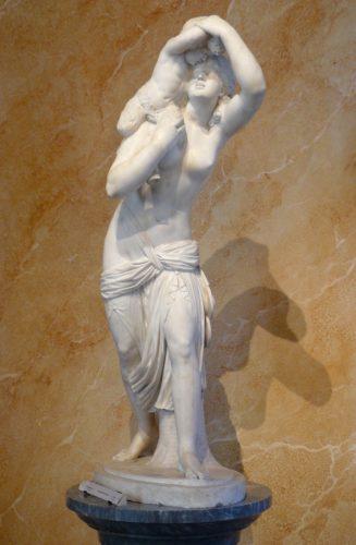 Jean Joseph Foucou (1739-1815), Bacchante portant un petit faune, marbre, musée Cognac-Jay n° inv. J219