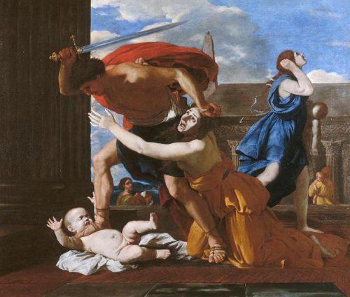 Nicolas Poussin, Le massacre des innocents, ca. 1625, toile, 147 x 171 cm, Chantilly, musée Condé.