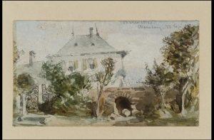 Anonyme britnnaique, Les Charmettes. Maison de J.J. Rousseau à Chambéry, 1871, Londres, Tate Collection
