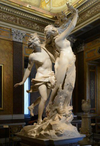 Gian Lorenzo Bernini, Apollon et Daphné, 1622-1625, marbre, 243 cm, Rome: galerie Borghese.