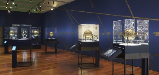 Globes en 3D Galerie des donateurs, site François-Mitterrand