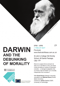 Poster: Darwin and the Debunking of Morality