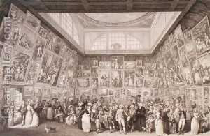 Interior-View-Of-Somerset-House-Showing-An-Exhibition-Of-The-Royal-Academy-Of-Arts-In-1787,-1787