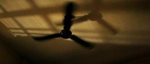 Ventilateur associé aux hélices d'hélicopter
