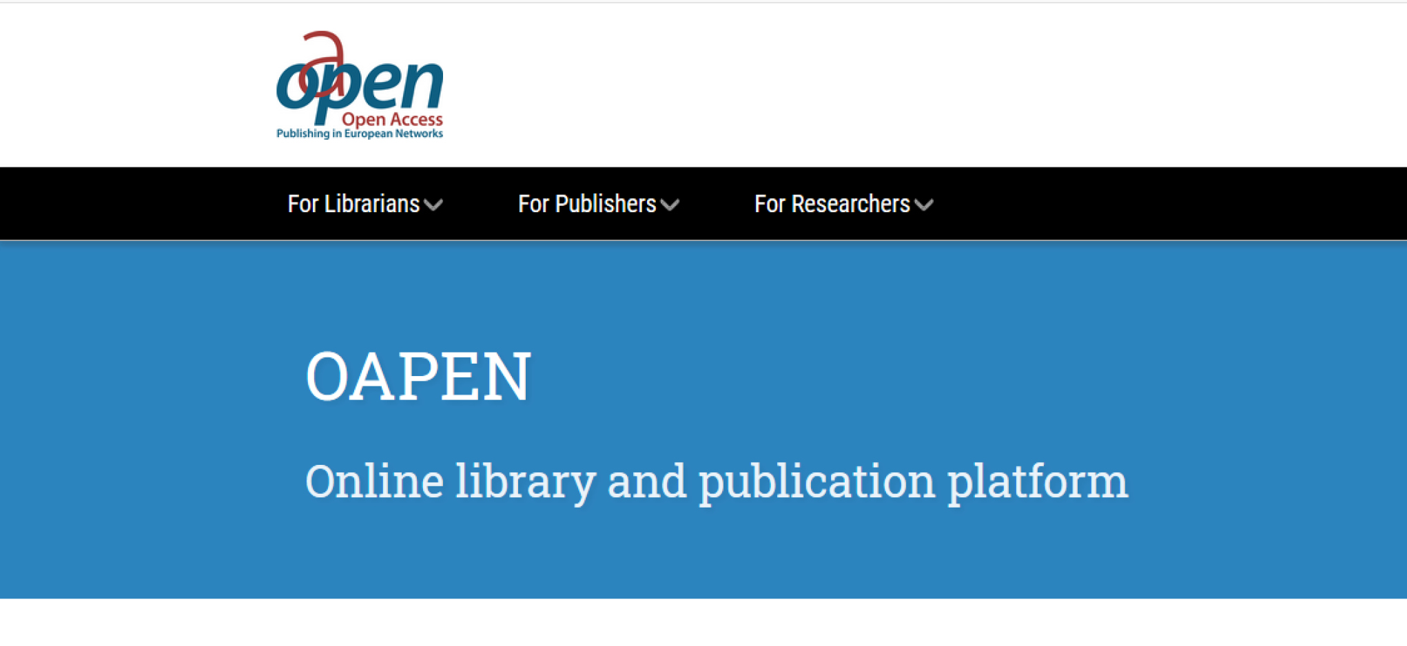 OAPEN launches new website
