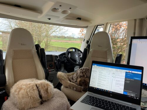 Office in van