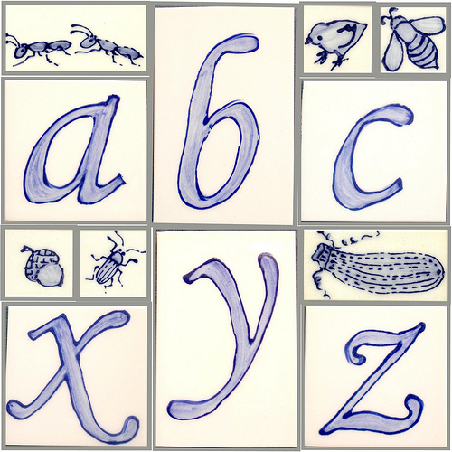 alphabet collage