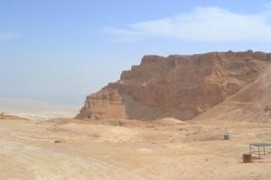 Masada - ein besonderer Bau nahe der Küste zum Toten Meer (Foto: S. Burkard)