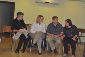 Im Gespräch mit Frau Busch von der Deutschen Vertretung in Ramallah (Foto: S. Burkard)