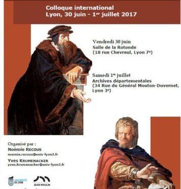 Lyon, 30 juin-1er Juillet 2017, Définir l'hétérodoxie dans le protestantisme, entre Églises et États (XVIe-XVIIIe s.)