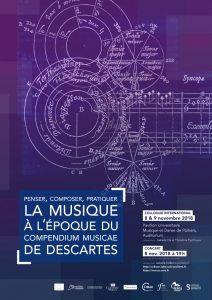 COLLOQUE : PENSER, COMPOSER, PRATIQUER LA MUSIQUE À L'ÉPOQUE DU COMPENDIUM MUSICAE DE DESCARTES (1618)
