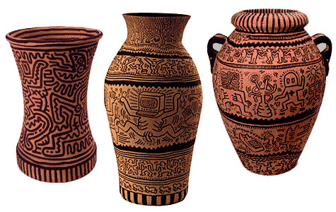 Ketih Haring, Untitled vases, 1984