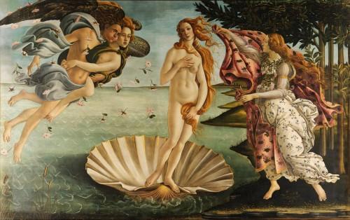 Sandro Botticelli, La Naissance de Vénus, vers 1485, Galerie des Offices, Florence.