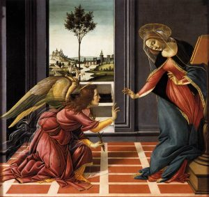 L'Annonciation, Sandro Botticelli (1489)