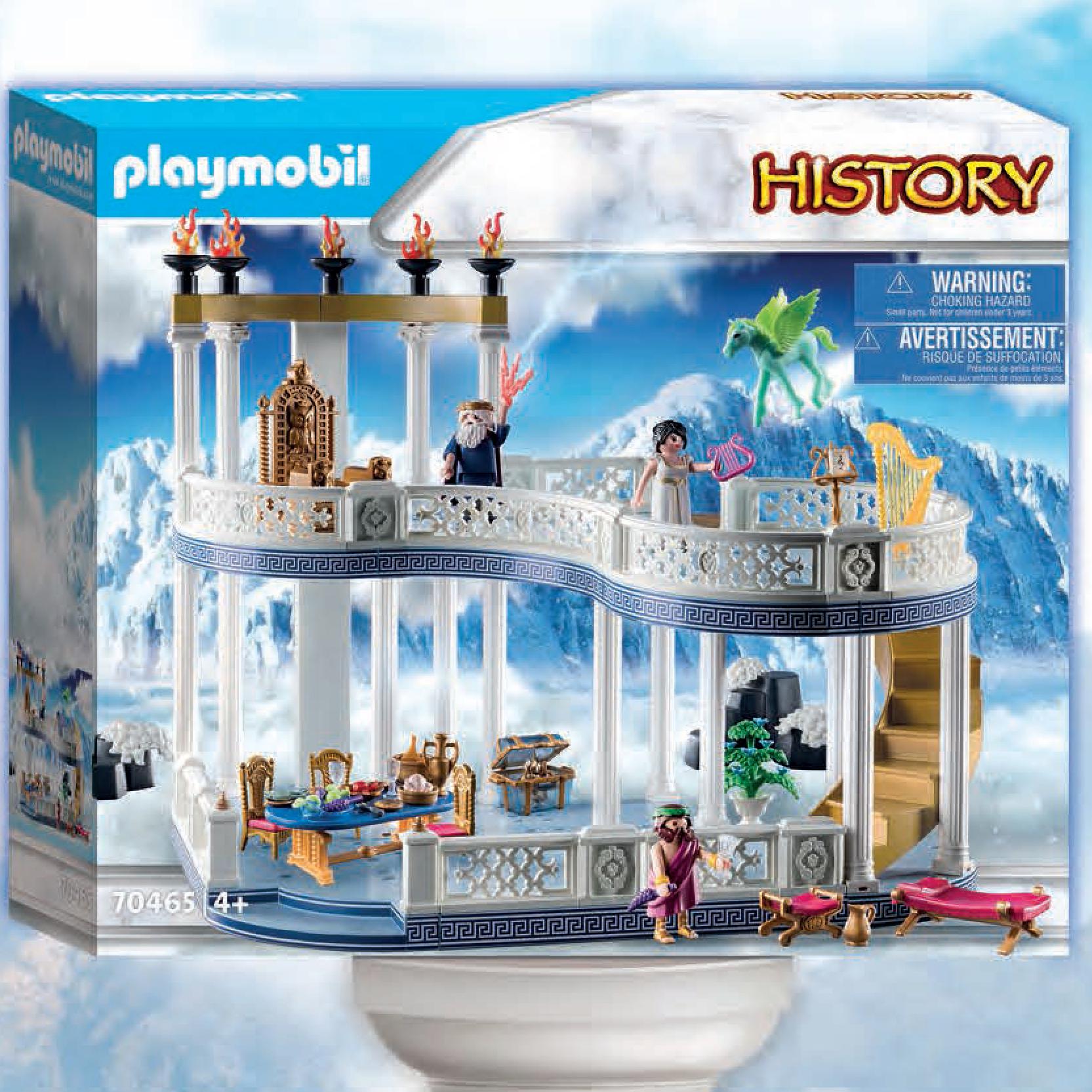 Playmobil décor grec ou romain playmobil the movie